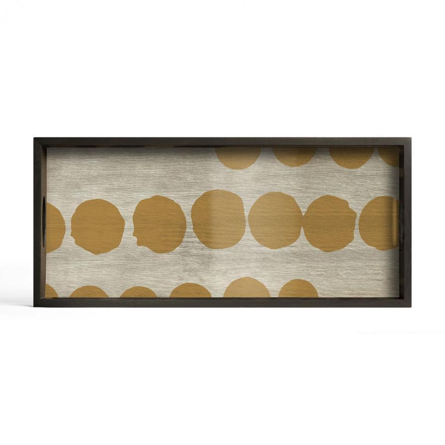 Sienna Dots glazen dienblad - M