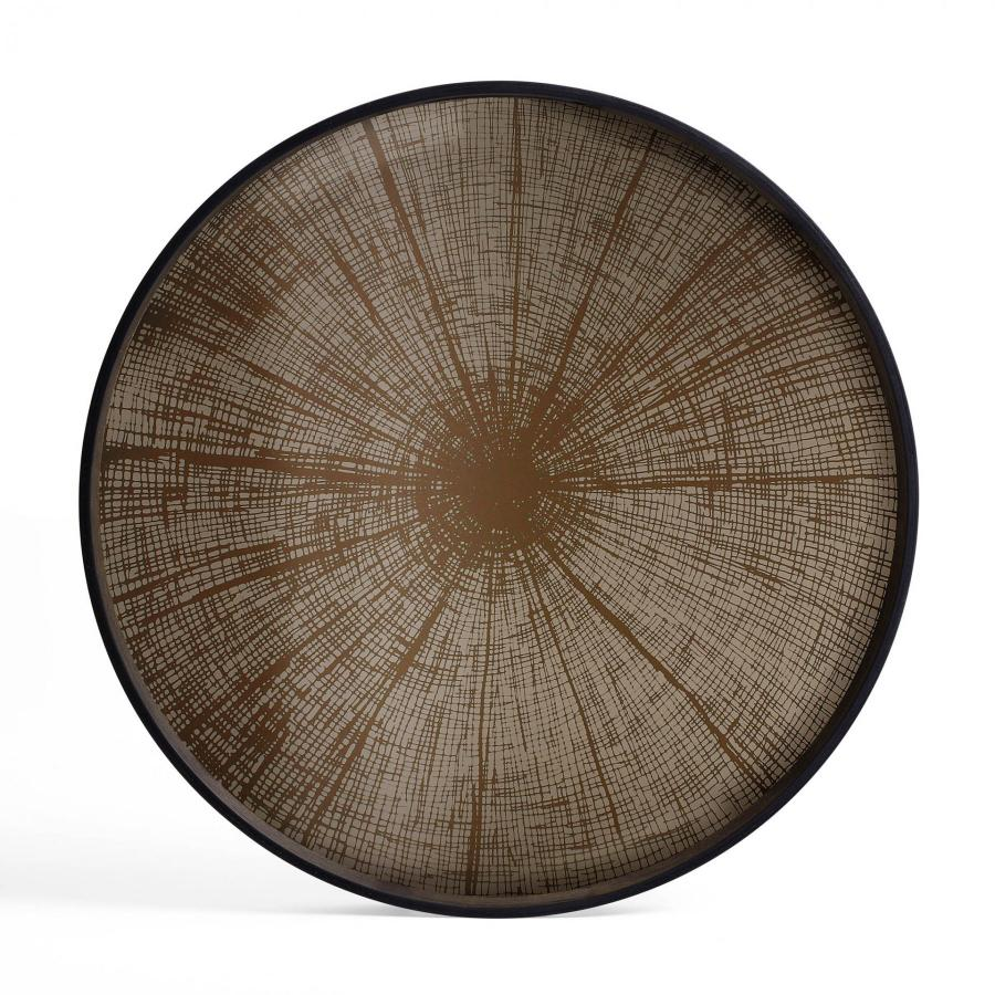Ethnicraft - Rechthoekige dienbladen - Bronze Gate spiegel dienblad - M