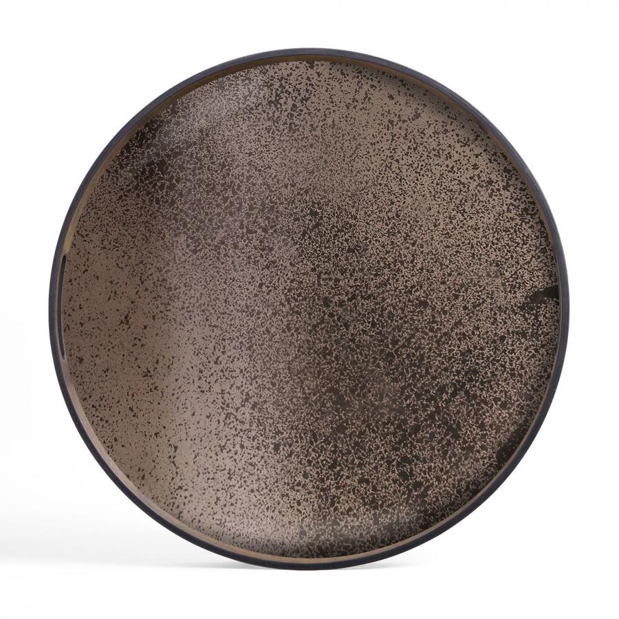 Ethnicraft - Ovalen dienbladen - Bronze spiegel dienblad - M