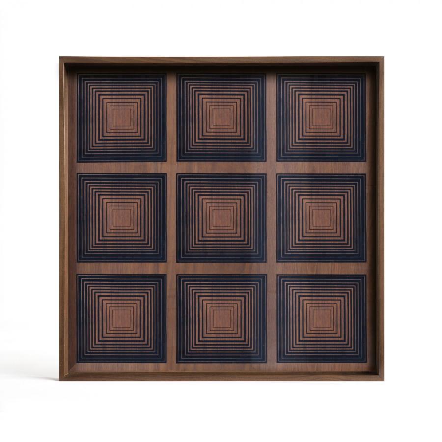 Ink Squares glazen dienblad - L