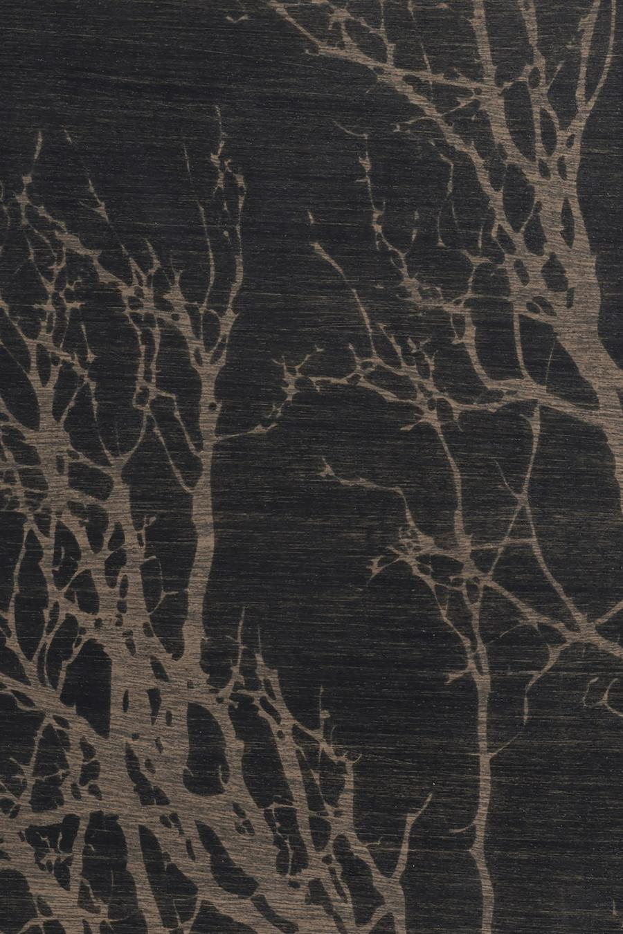 Ethnicraft - Ovalen dienbladen - Black Tree houten dienblad - M