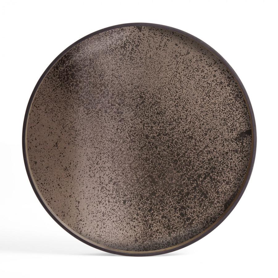 Ethnicraft - Ronde dienbladen - Bronze spiegel dienblad - XL