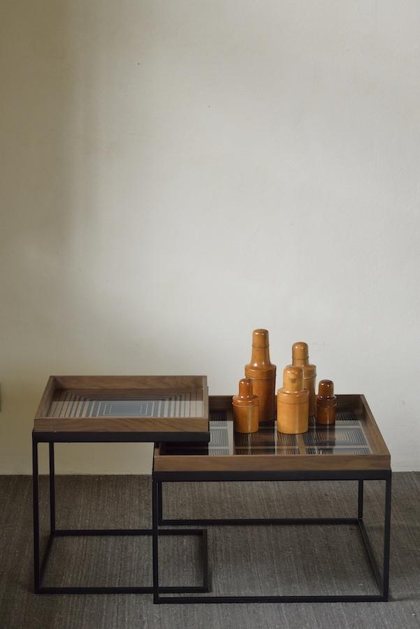 Ethnicraft - Salontafels - Square tray salontafel set